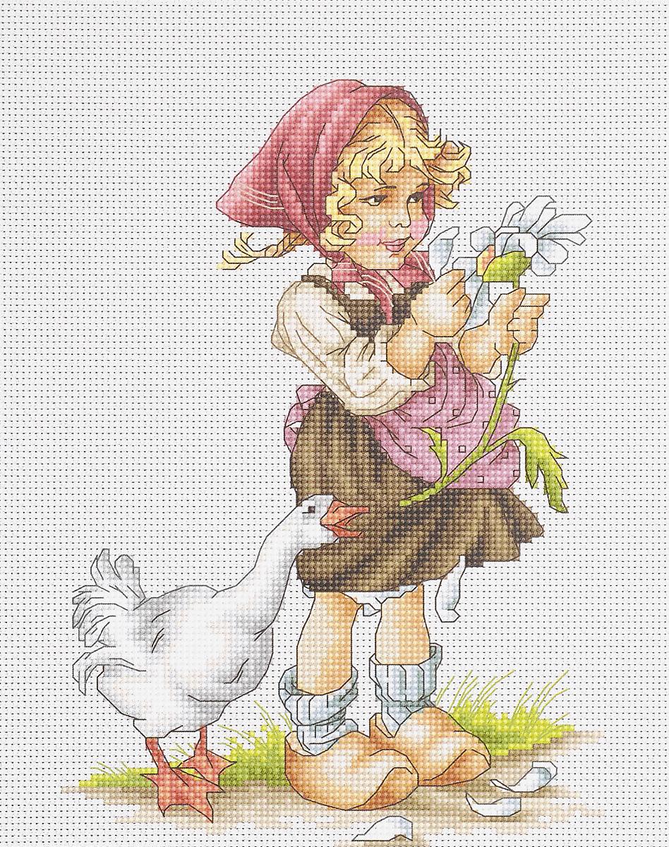 Набор для вышивания крестом Luca-S Девочка с гусем, 14,5 х 20 смB1047Набор для вышивания крестом Luca-S Девочка с гусем поможет создать красивую вышитую картину. Рисунок-вышивка, выполненный на канве, выглядит стильно и модно. Вышивание отвлечет вас от повседневных забот и превратится в увлекательное занятие! Работа, сделанная своими руками, не только украсит интерьер дома, придав ему уют и оригинальность, но и будет отличным подарком для друзей и близких! Набор содержит все необходимые материалы для вышивки на канве в технике счетный крест. В набор входит: - канва Aida Zweigart №16 (белого цвета), - мулине Anchor - 100% мерсеризованный хлопок (36 цветов), - черно-белая символьная схема, - инструкция на русском языке, - игла. Размер готовой работы: 14,5 х 20 см. Размер канвы: 32 х 26,3 см.