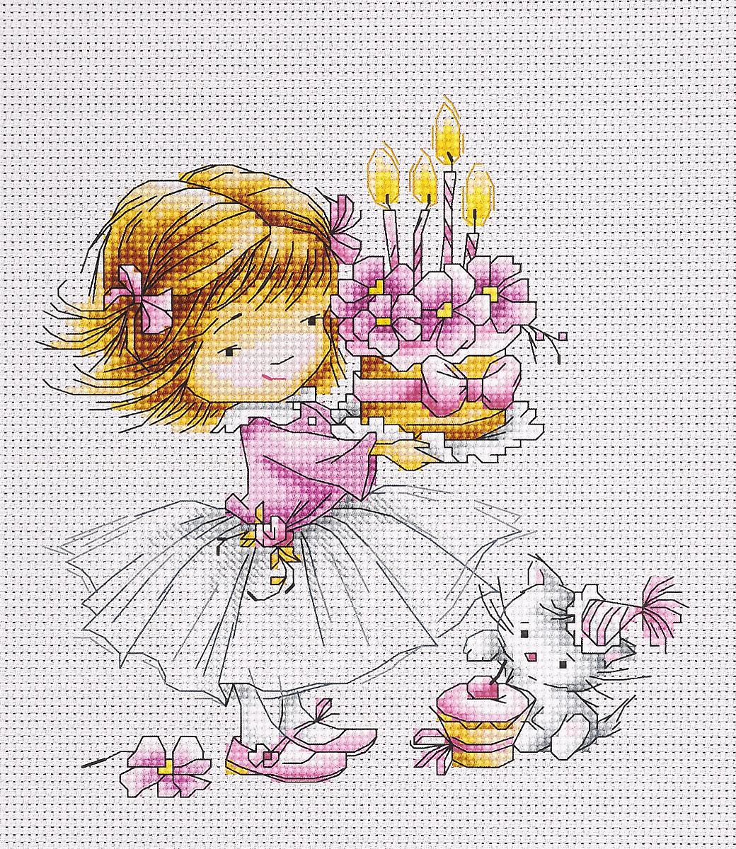 Набор для вышивания крестом Luca-S Девочка с котенком и тортиком, 13,5 х 14,5 смB1054Набор для вышивания крестом Luca-S Девочка с котёнком и тортиком поможет создать красивую вышитую картину. Рисунок-вышивка, выполненный на канве, выглядит стильно и модно. Вышивание отвлечет вас от повседневных забот и превратится в увлекательное занятие! Работа, сделанная своими руками, не только украсит интерьер дома, придав ему уют и оригинальность, но и будет отличным подарком для друзей и близких! Набор содержит все необходимые материалы для вышивки на канве в технике счетный крест. В набор входит: - канва Aida Zweigart №16 (белого цвета), - мулине Anchor - 100% мерсеризованный хлопок (25 цветов), - черно-белая символьная схема, - инструкция на русском языке, - игла. Размер готовой работы: 13,5 х 14,5 см. Размер канвы: 30 х 26 см.