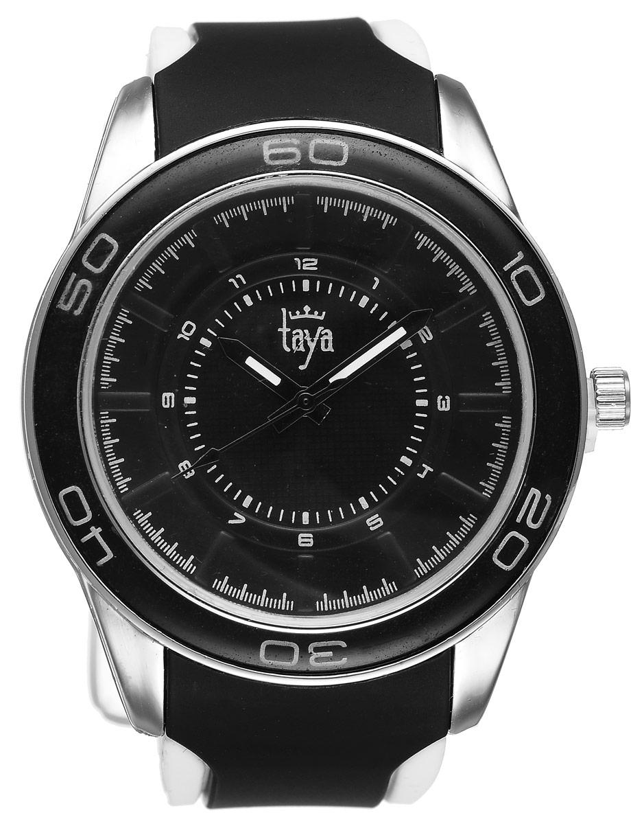 Часы наручные женские Taya, цвет: серебристый, черный. T-W-0207T-W-0207-WATCH-SL.BLACKСтильные женские часы Taya выполнены из минерального стекла, силикона и нержавеющей стали. Циферблат оформлен символикой бренда. Корпус часов оснащен кварцевым механизмом со сменным элементом питания, а также силиконовым ремешком с практичной пряжкой. На стрелки нанесен светящийся состав. Часы поставляются в фирменной упаковке. Часы Taya подчеркнут изящность женской руки и отменное чувство стиля у их обладательницы.