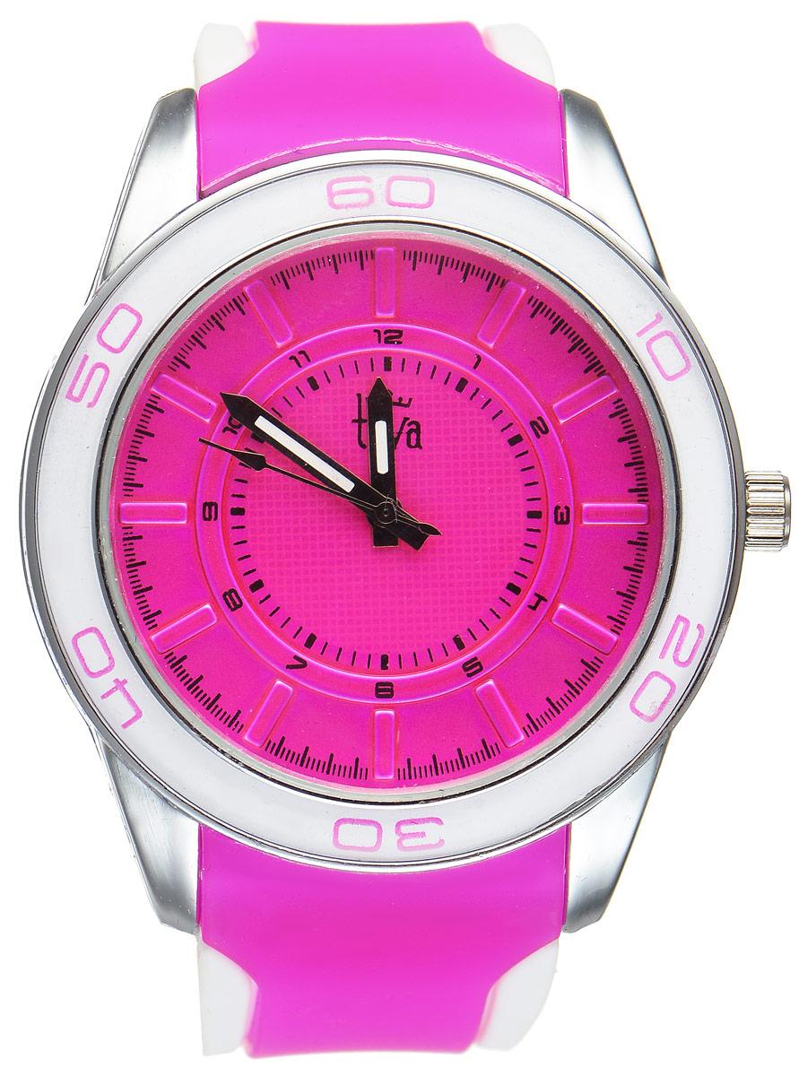 Часы наручные женские Taya, цвет: серебристый, фуксия. T-W-0208T-W-0208-WATCH-SL.FUCHSIAСтильные женские часы Taya выполнены из минерального стекла, силикона и нержавеющей стали. Циферблат оформлен символикой бренда. Корпус часов оснащен кварцевым механизмом со сменным элементом питания, а также силиконовым ремешком с практичной пряжкой. На стрелки нанесен светящийся состав. Часы поставляются в фирменной упаковке. Часы Taya подчеркнут изящность женской руки и отменное чувство стиля у их обладательницы.