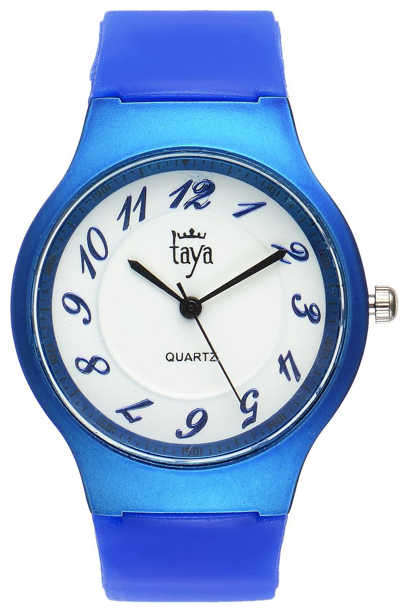 Часы наручные женские Taya, цвет: синий. T-W-0226T-W-0226-WATCH-D.BLUEСтильные спортивные часы Taya выполнены из минерального стекла, силикона и нержавеющей стали. Циферблат оформлен символикой бренда. Корпус часов оснащен кварцевым механизмом со сменным элементом питания, а также силиконовым ремешком с практичной пряжкой. Часы поставляются в фирменной упаковке. Часы Taya подчеркнут изящность женской руки и отменное чувство стиля у их обладательницы.