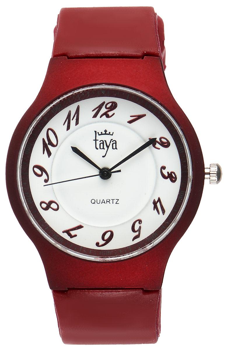 Часы наручные женские Taya, цвет: красный. T-W-0225T-W-0225-WATCH-REDСтильные спортивные часы Taya выполнены из минерального стекла, силикона и нержавеющей стали. Циферблат оформлен символикой бренда. Корпус часов оснащен кварцевым механизмом со сменным элементом питания, а также силиконовым ремешком с практичной пряжкой. Часы поставляются в фирменной упаковке. Часы Taya подчеркнут изящность женской руки и отменное чувство стиля у их обладательницы.