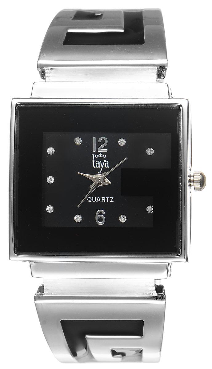 Часы наручные женские Taya, цвет: серебристый, черный. T-W-0402T-W-0402-WATCH-SL.BLACKСтильные женские часы Taya выполнены из минерального стекла и нержавеющей стали. Циферблат часов инкрустирован стразами и украшен символикой бренда. Корпус часов оснащен кварцевым механизмом со сменным элементом питания, а также дополнен раздвижным браслетом с пружинным механизмом, который позволяет надеть часы на любую руку. Браслет оформлен цветной эмалью. Часы поставляются в фирменной упаковке. Часы Taya подчеркнут изящность женской руки и отменное чувство стиля у их обладательницы.