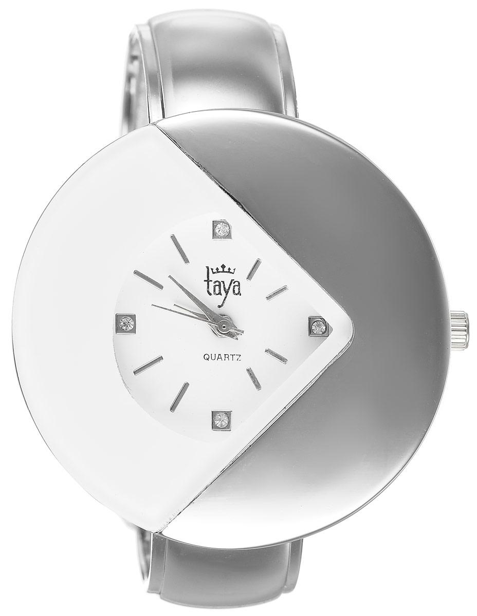 Часы наручные женские Taya, цвет: серебристый, белый. T-W-0421T-W-0421-WATCH-SL.WHITEСтильные женские часы Taya изготовлены из минерального стекла и нержавеющей стали. Циферблат часов, украшенный символикой бренда, выполнен в интересном геометрическом дизайне. Корпус часов оснащен кварцевым механизмом со сменным элементом питания, а также дополнен раздвижным браслетом с пружинным механизмом, который позволяет надеть часы на любую руку. Часы поставляются в фирменной упаковке. Часы Taya подчеркнут изящность женской руки и отменное чувство стиля у их обладательницы.