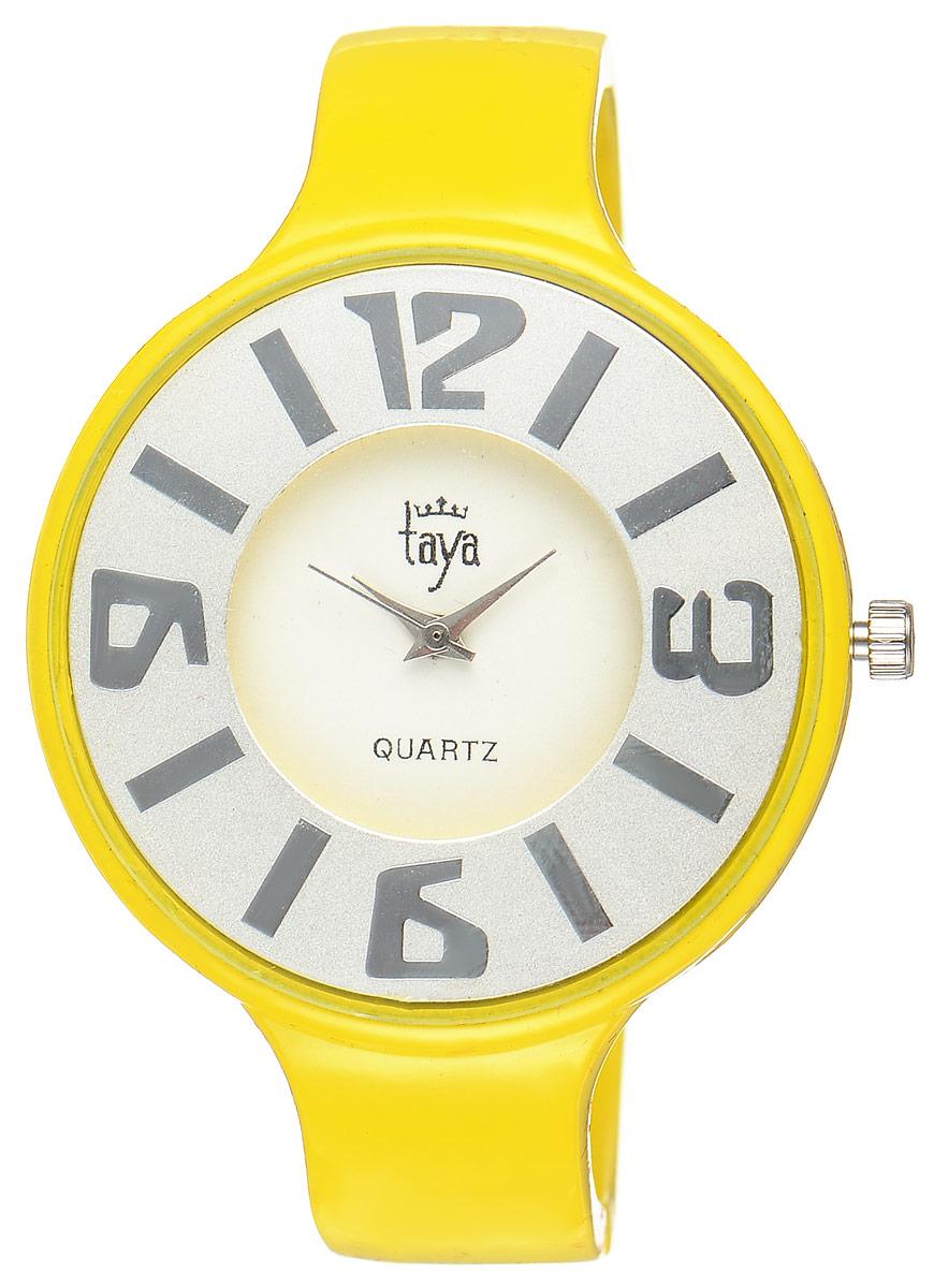 Часы наручные женские Taya, цвет: желтый. T-W-0457T-W-0457-WATCH-YELLOWСтильные женские часы Taya выполнены из минерального стекла и нержавеющей стали. Циферблат часов оформлен символикой бренда. Корпус часов оснащен кварцевым механизмом со сменным элементом питания и дополнен раздвижным браслетом с пружинным механизмом. Часы поставляются в фирменной упаковке. Часы Taya подчеркнут изящность женской руки и отменное чувство стиля у их обладательницы.