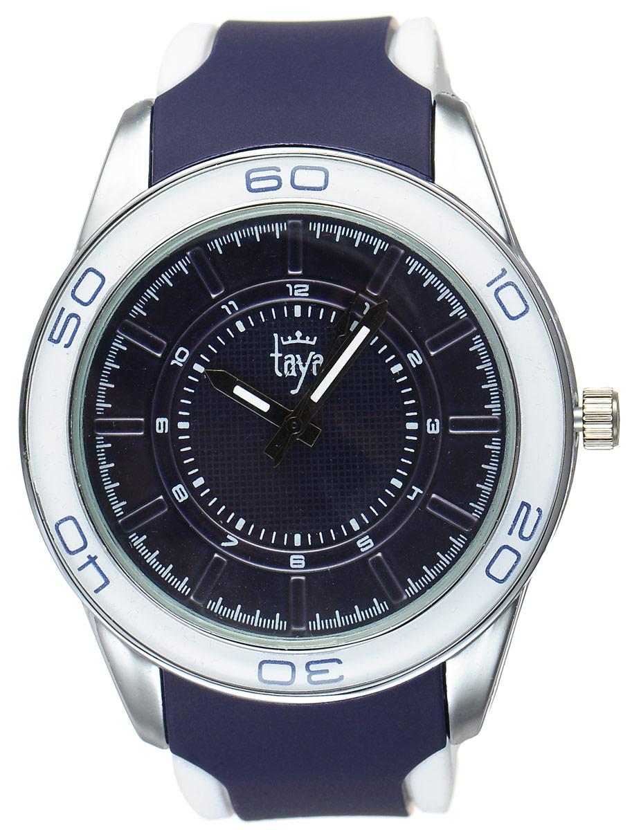 Часы наручные женские Taya, цвет: серебристый, темно-синий. T-W-0209T-W-0209-WATCH-SL.D.BLUEСтильные женские часы Taya выполнены из минерального стекла, силикона и нержавеющей стали. Циферблат оформлен символикой бренда. Корпус часов оснащен кварцевым механизмом со сменным элементом питания, а также силиконовым ремешком с практичной пряжкой. На стрелки нанесен светящийся состав. Часы поставляются в фирменной упаковке. Часы Taya подчеркнут изящность женской руки и отменное чувство стиля у их обладательницы.