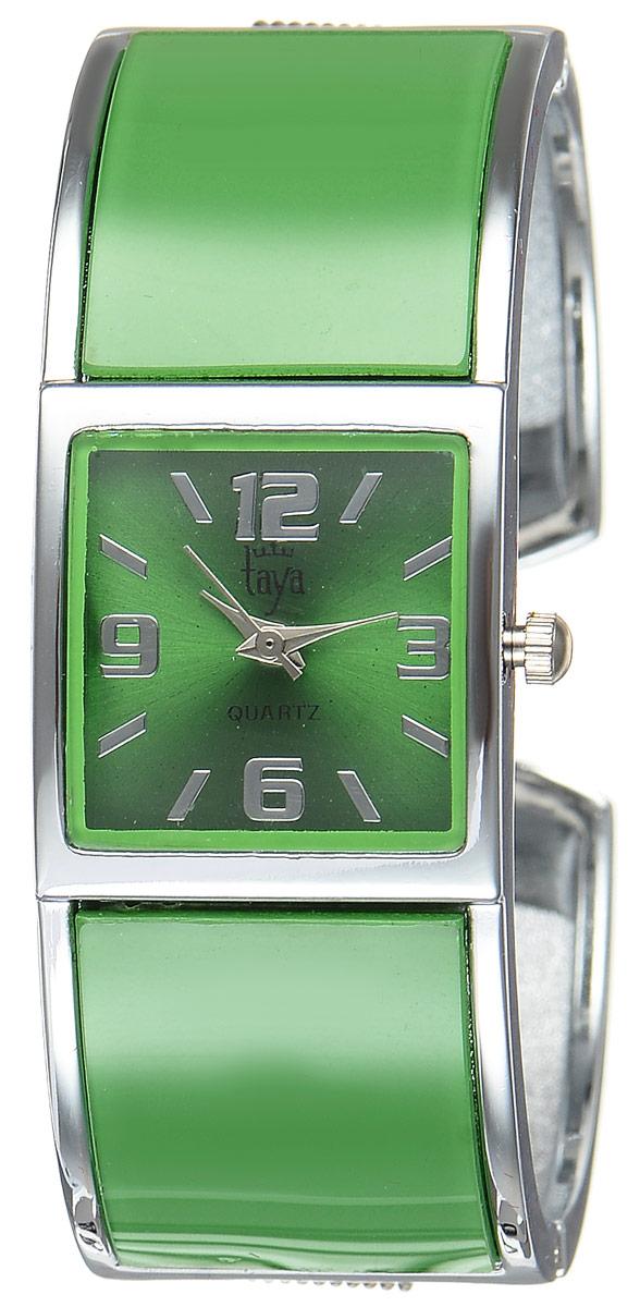 Часы наручные женские Taya, цвет: серебристый, зеленый. T-W-0410T-W-0410-WATCH-SL.GREENСтильные женские часы Taya выполнены из минерального стекла и нержавеющей стали. Циферблат часов оформлен символикой бренда. Корпус часов оснащен кварцевым механизмом со сменным элементом питания и дополнен раздвижным браслетом с пружинным механизмом. Часы поставляются в фирменной упаковке. Часы Taya подчеркнут изящность женской руки и отменное чувство стиля у их обладательницы.