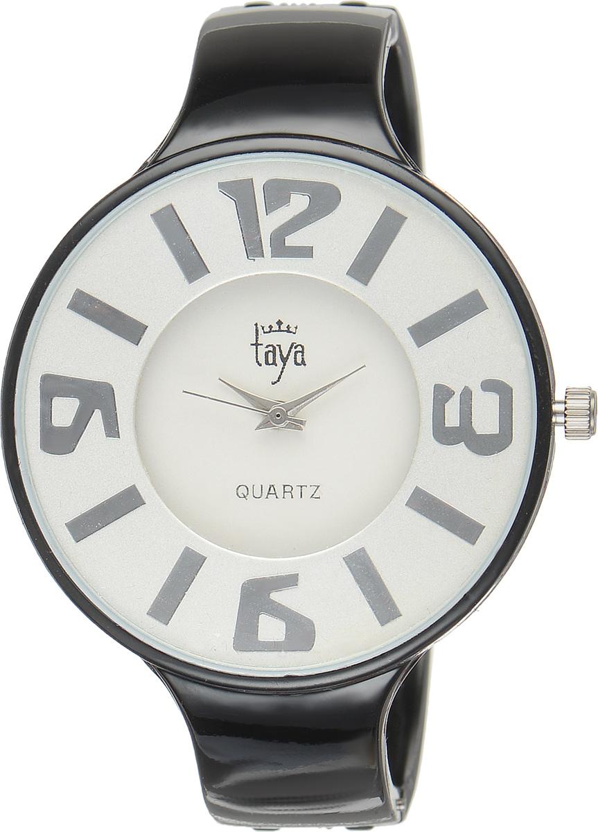 Часы наручные женские Taya, цвет: черный. T-W-0454T-W-0454-WATCH-BLACKСтильные женские часы Taya выполнены из минерального стекла и нержавеющей стали. Циферблат часов оформлен символикой бренда. Корпус часов оснащен кварцевым механизмом со сменным элементом питания и дополнен раздвижным браслетом с пружинным механизмом. Часы поставляются в фирменной упаковке. Часы Taya подчеркнут изящность женской руки и отменное чувство стиля у их обладательницы.