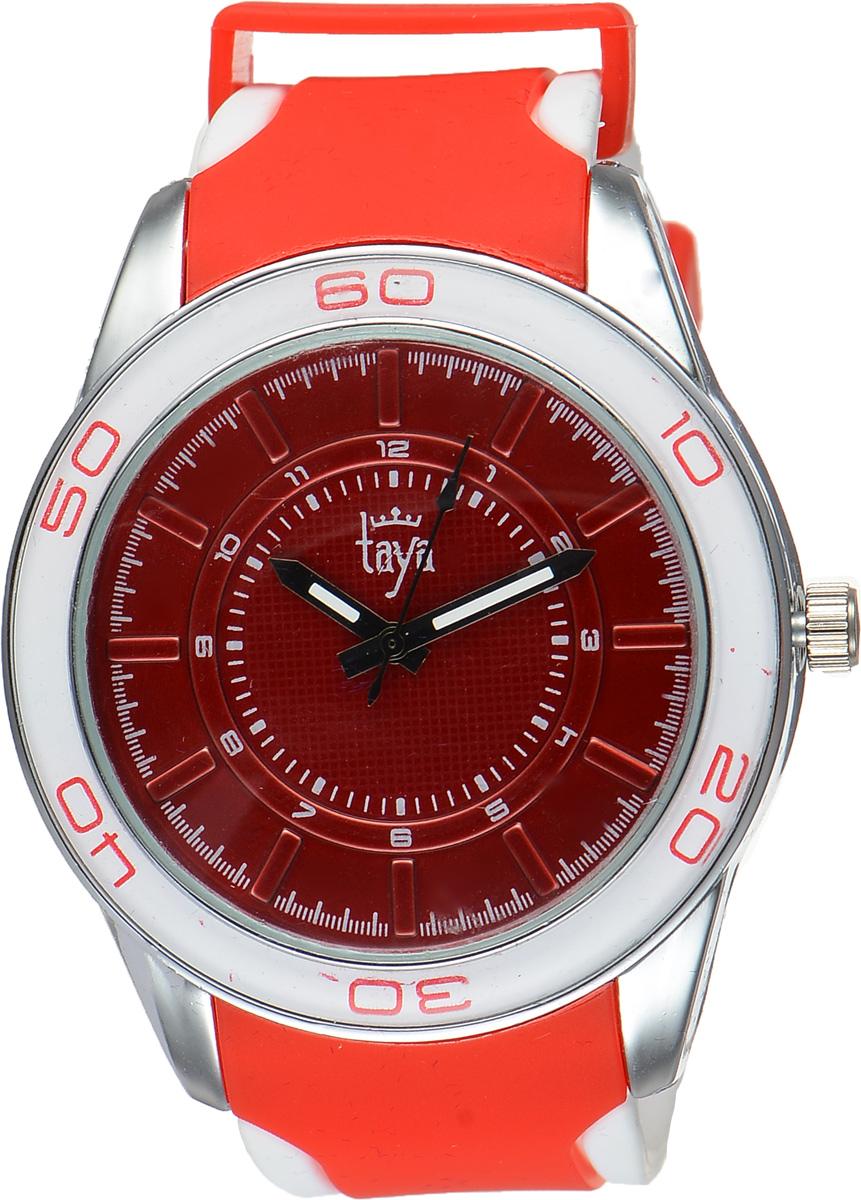 Часы наручные женские Taya, цвет: серебристый, красный. TAYA T-W-0210T-W-0210-WATCH-SL.REDСтильные женские часы Taya выполнены из минерального стекла, силикона и нержавеющей стали. Циферблат оформлен символикой бренда. Корпус часов оснащен кварцевым механизмом со сменным элементом питания, а также силиконовым ремешком с практичной пряжкой. На стрелки нанесен светящийся состав. Часы поставляются в фирменной упаковке. Часы Taya подчеркнут изящность женской руки и отменное чувство стиля у их обладательницы.