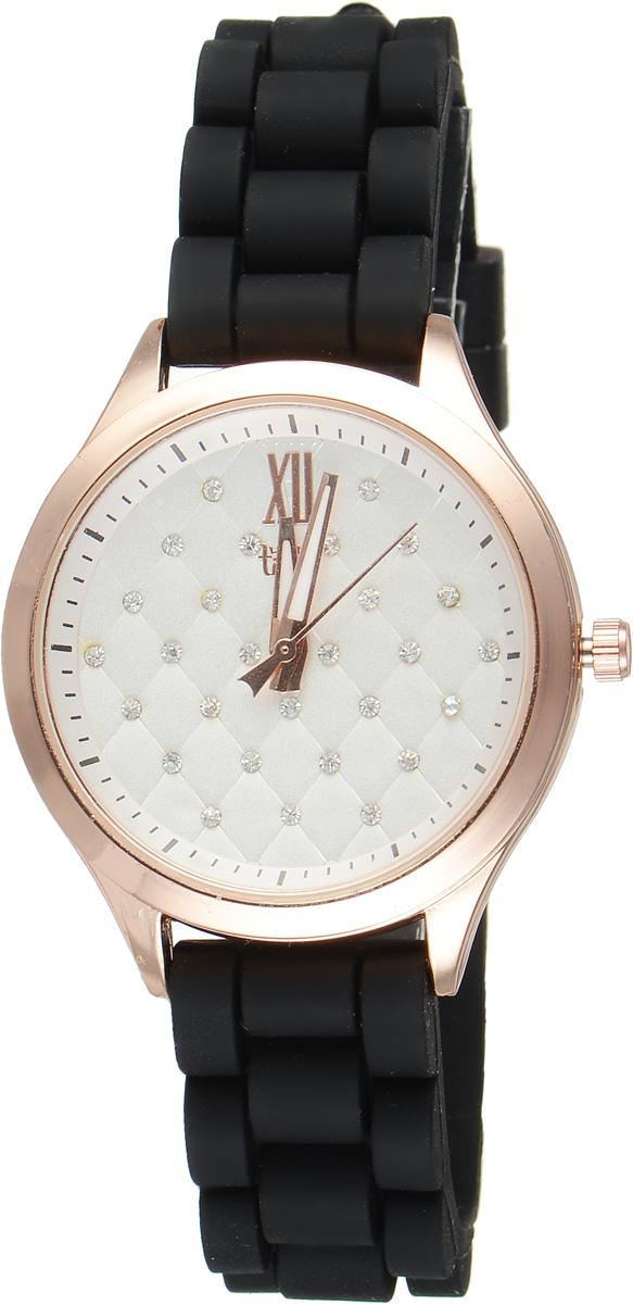 Часы наручные женские Taya, цвет: золотистый, черный. T-W-0205T-W-0205-WATCH-GL.BLACKСтильные женские часы Taya выполнены из минерального стекла, силикона и нержавеющей стали. Циферблат инкрустирован стразами и оформлен символикой бренда. Корпус часов оснащен кварцевым механизмом со сменным элементом питания, а также силиконовым ремешком с практичной пряжкой. На стрелки нанесен светящийся состав. Часы поставляются в фирменной упаковке. Часы Taya подчеркнут изящность женской руки и отменное чувство стиля у их обладательницы.