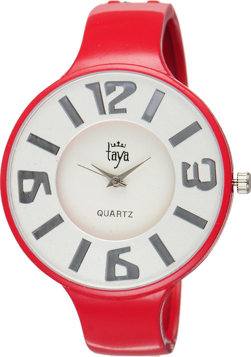 Часы наручные женские Taya, цвет: красный. T-W-0458T-W-0458-WATCH-REDСтильные женские часы Taya выполнены из минерального стекла и нержавеющей стали. Циферблат часов оформлен символикой бренда. Корпус часов оснащен кварцевым механизмом со сменным элементом питания и дополнен раздвижным браслетом с пружинным механизмом. Часы поставляются в фирменной упаковке. Часы Taya подчеркнут изящность женской руки и отменное чувство стиля у их обладательницы.