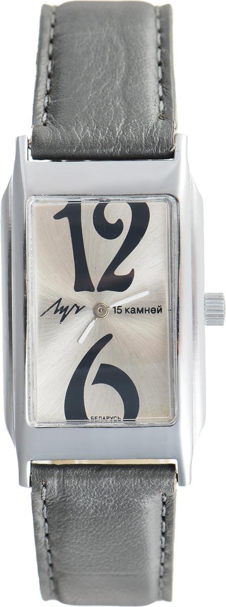 Часы наручные женские Луч, цвет: серебряный, серый. 7557116975571169Элегантные часы Луч выполнены из металлического сплава и органического стекла. Прямоугольный корпус часов имеет покрытие из хрома, циферблат оформлен символикой бренда. Механические часы с 15 рубиновыми камнями и противоударным устройством оси баланса дополнены ремешком из натуральной кожи с декоративным тиснением. Часы застегиваются на практичную пряжку. Изделие поставляется в фирменной упаковке. Часы Луч подчеркнут изящность женской руки и отменное чувство стиля у их обладательницы.