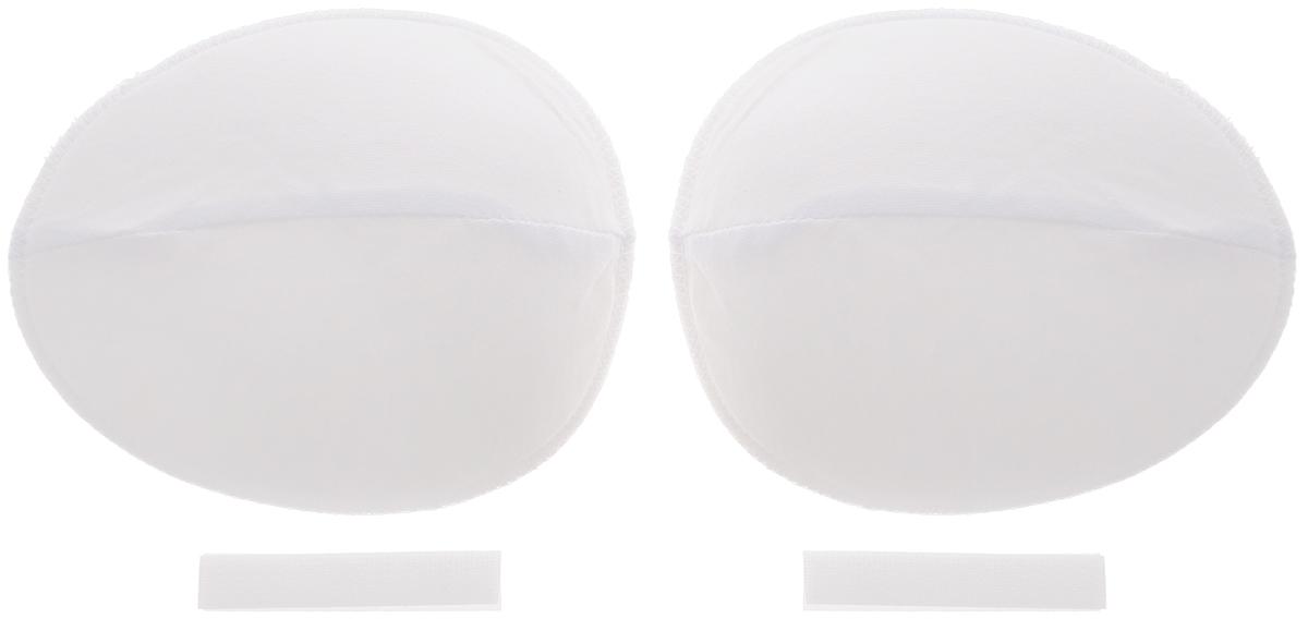 Накладки плечевые Hemline для рукава покроя реглан, с липучкой, средние, цвет: белый, толщина 13 мм, 2 шт917.MПлечевые накладки Hemline, выполненные из поролона и хлопка, используются при пошиве блузок и платьев из легких тканей с рукавами покроя реглан. Они не соскальзывают с плеч, благодаря застежке-липучке, которую можно зафиксировать с помощью утюга или пришить. Края накладок обметаны. Размер: 12,5 х 15 см.