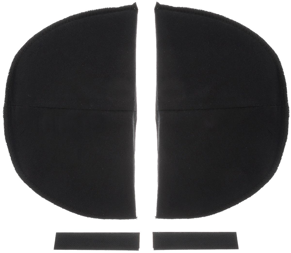 Накладки плечевые Hemline для втачных рукавов, на липучке, средние, цвет: черный, толщина 13 мм, 2 шт902.MBПлечевые накладки Hemline, выполненные из поролона и хлопка, используются при пошиве блузок и платьев из легких тканей со втачной формой рукава. Они не соскальзывают с плеч, благодаря застежке-липучке, которую можно зафиксировать с помощью утюга или пришить. Края накладок обметаны. Размер: 15 х 10 см.