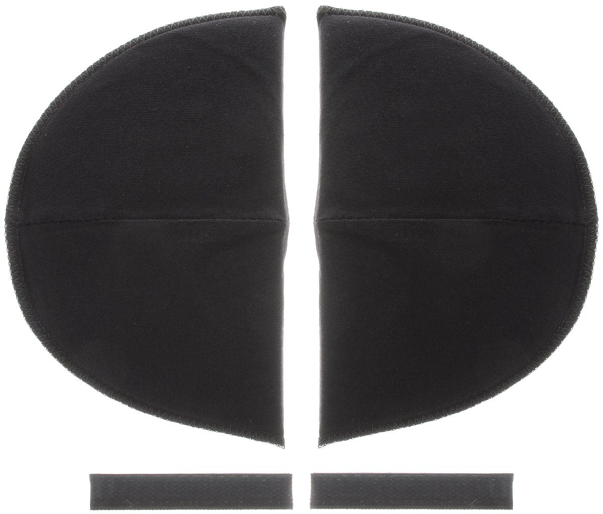 Накладки плечевые Hemline для втачных рукавов, на липучке, большие, цвет: черный, толщина 13 мм, 2 шт902.LBПлечевые накладки Hemline, выполненные из поролона и хлопка, используются при пошиве блузок и платьев из легких тканей со втачной формой рукава. Они не соскальзывают с плеч, благодаря застежке-липучке, которую можно зафиксировать с помощью утюга или пришить. Края накладок обметаны. Размер: 16 х 10 см.