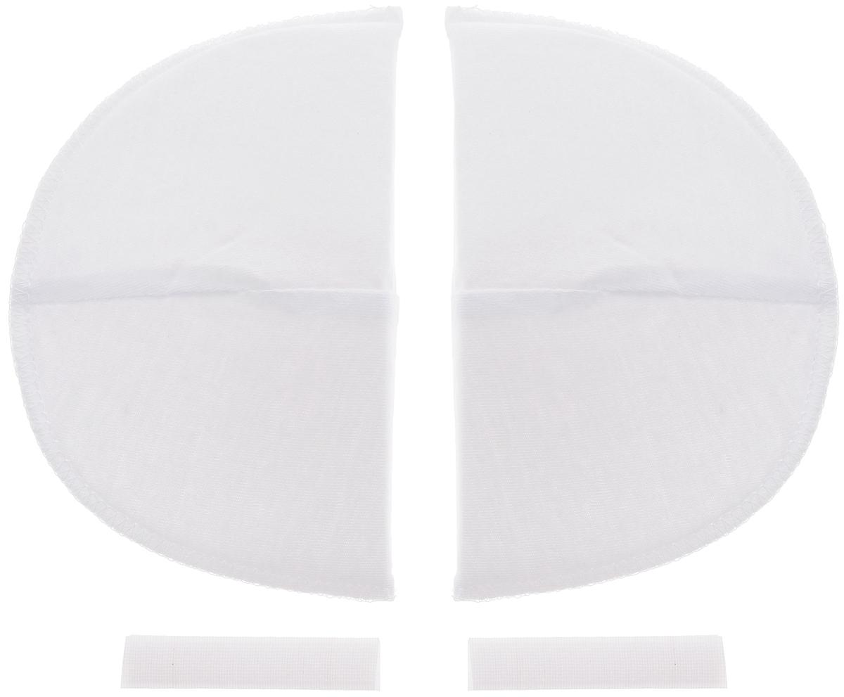 Накладки плечевые Hemline для втачных рукавов, на липучке, большие, цвет: белый, толщина 13 мм, 2 шт902.LПлечевые накладки Hemline, выполненные из поролона и хлопка, используются при пошиве блузок и платьев из легких тканей со втачной формой рукава. Они не соскальзывают с плеч, благодаря застежке-липучке, которую можно зафиксировать с помощью утюга или пришить. Края накладок обметаны. Размер: 16 х 10 см.