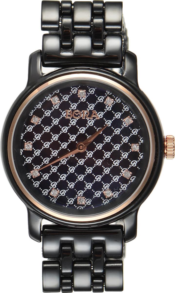 Часы наручные женские Bora, цвет: черный. T-B-8645 T-B-8645-WATCH-BLACK