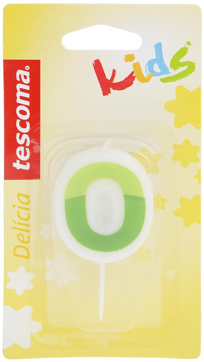 Свеча для торта Tescoma Delicia Kids, ноль, цвет: белый, зеленый630970_зеленыйСвеча для торта Tescoma Delicia Kids изготовлена из высококачественного парафина, фитиль - из натурального волокна. Это отличное решение для декорирования детского торта к празднику. Свечу можно комбинировать с другими цифрами. Изделие хорошо и долго горит. С этой свечой ваш праздник станет еще удивительнее и веселее. Размер свечи (без учета иглы): 4 х 5 см. Высота свечи (с учетом иглы): 7,5 см.