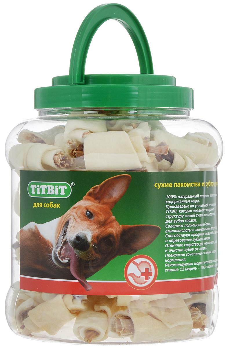 """Лакомство для собак """"Titbit"""", рогалики из кожи с начинкой, 4,3 л 264"""