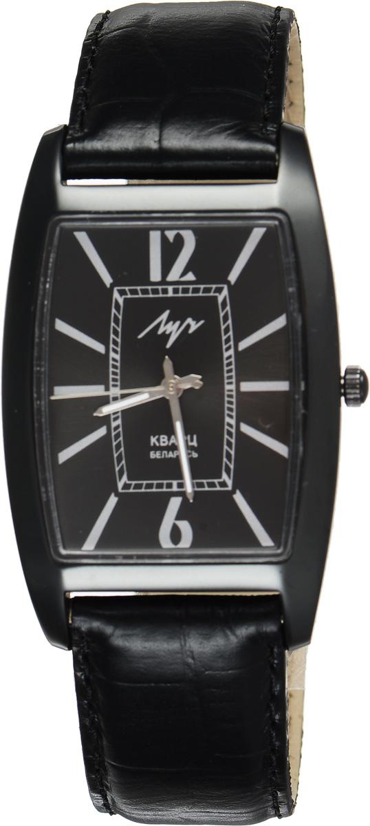 Часы наручные мужские Луч, цвет: черный. 734409890734409890Стильные мужские часы Луч выполнены из металлического сплава и органического стекла. Корпус с алмазоподобным покрытием обладает высокой стойкостью к стиранию. Циферблат оформлен символикой бренда. Корпус часов оснащен кварцевым механизмом со сменным элементом питания, а также дополнен ремешком из натуральной кожи с декоративным тиснением, который застегивается на практичную пряжку. Часы Луч подчеркнут отменное чувство стиля их обладателя.