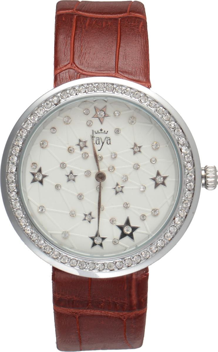 Часы наручные женские Taya, цвет: серебристый, красный. T-W-0009T-W-0009-WATCH-SL.REDЭлегантные женские часы Taya выполнены из минерального стекла, натуральной кожи и нержавеющей стали. Циферблат и корпус часов украшены стразами и символикой бренда. Корпус часов оснащен кварцевым механизмом со сменным элементом питания, а также дополнен ремешком из натуральной кожи, который застегивается на пряжку. Ремешок декорирован тиснением под кожу рептилии. Часы поставляются в фирменной упаковке. Часы Taya подчеркнут изящность женской руки и отменное чувство стиля у их обладательницы.