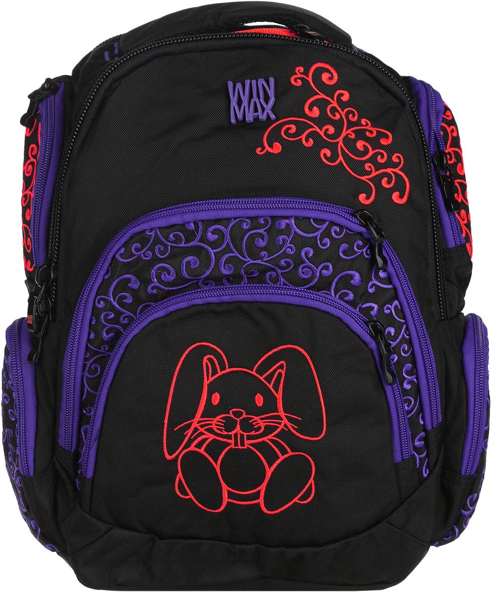 WinMax Рюкзак детский цвет черный K-375K-375_черныйРюкзак WinMax, украшенный шелковой вышивкой, - это совершенно удивительный по качеству и красоте рюкзак. Каждая ниточка с любовью вписана в общий орнамент, а неоновые цвета делают его модным и стильным. Можно с уверенностью сказать, что если вы будете иметь такой рюкзак, окружающие вас люди оценят стиль и качество изделия. Эта модель не только красива и оригинальна, но также очень практична и удобна. Благодаря качественному, легкому и прочному материалу, рюкзак долговечен в носке, а множество отделений поможет разместить все необходимые вещи школьницы. Если вы ищите, что-то совершенно необычное по стилю, оригинальное и качественное, советуем обратить внимание на него. Рюкзак имеет три основных отделения на молнии. Большое отделение содержит внутри мягкое отделение на липучке для планшета или ноутбука и открытый накладной карман-сетку. Отделение дополнено нашивкой, в которую можно занести личные данные владельца. Внутри второго отделения имеются два открытых сетчатых...