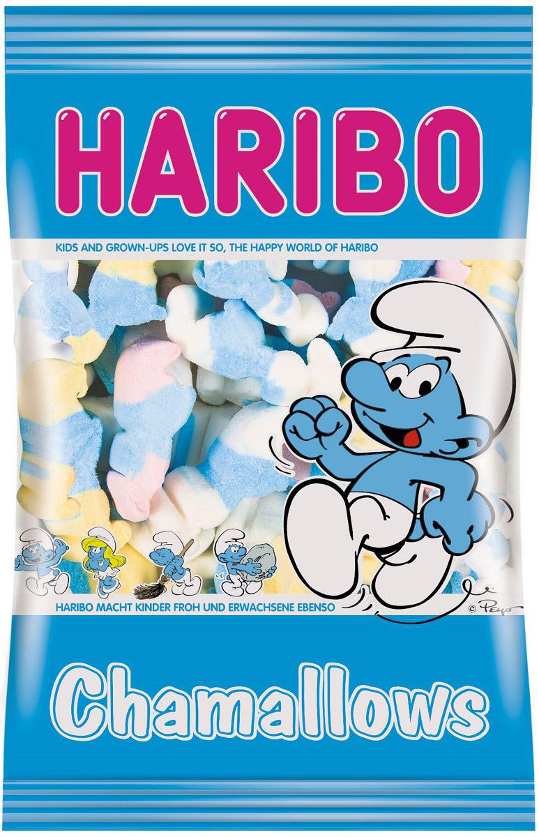 Haribo Шамеллоус Смурфики зефирные конфеты, 175 г