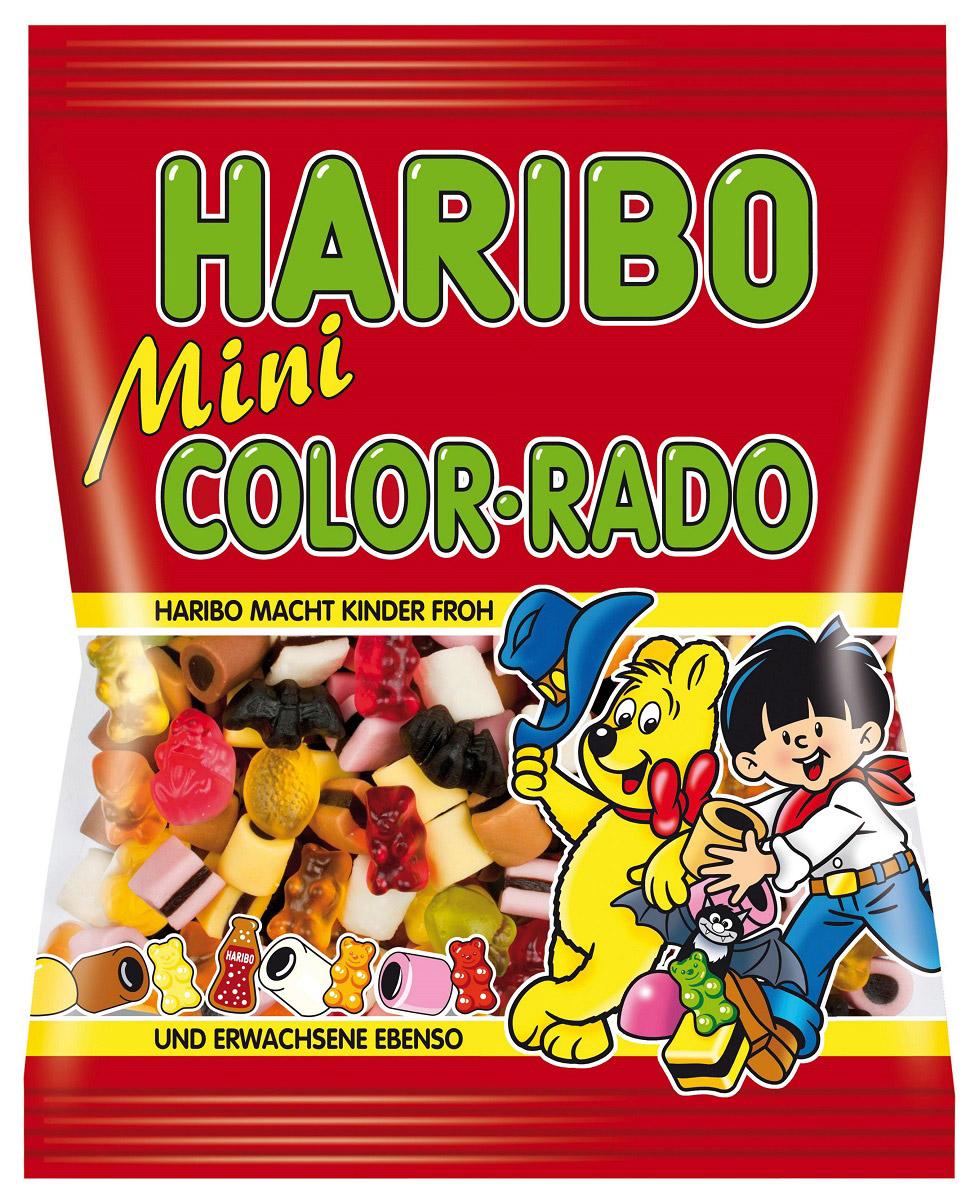 Haribo Мини Колор-Радо жевательный мармелад, 175 г72007Haribo Мини Коло-радо - микс лучших сладостей HARIBO для исключительного наслаждения! Великое разнообразие конфет ожидает каждого заглянувшего в пачку Мини Коло-Радо! Традиционный мармелад, лакричный мармелад, лакричный мармелад в сладких дуэтах с пастами из кокоса, клубники, шоколада, какао и лимона - всё это создает непередаваемый ансамбль и торжество вкуса от Haribo! Уважаемые клиенты! Обращаем ваше внимание, что полный перечень состава продукта представлен на дополнительном изображении.