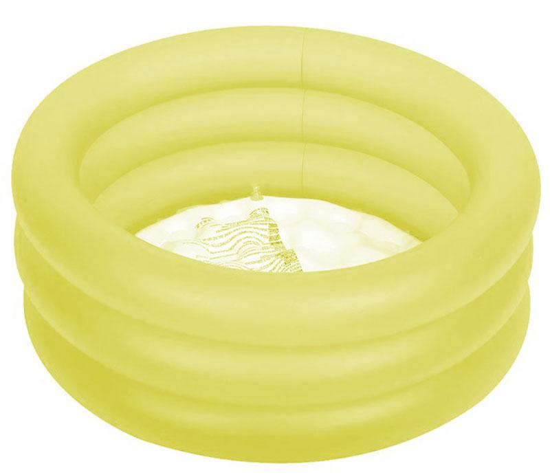 Бассейн надувной Jilong Colorful 3-Ring Pool, цвет: желтый, 64 х 22 смJL017220NPF_желтыйБассейн надувной Jilong Colorful 3-Ring Pool, цвет: желтый, 64 х 22 см