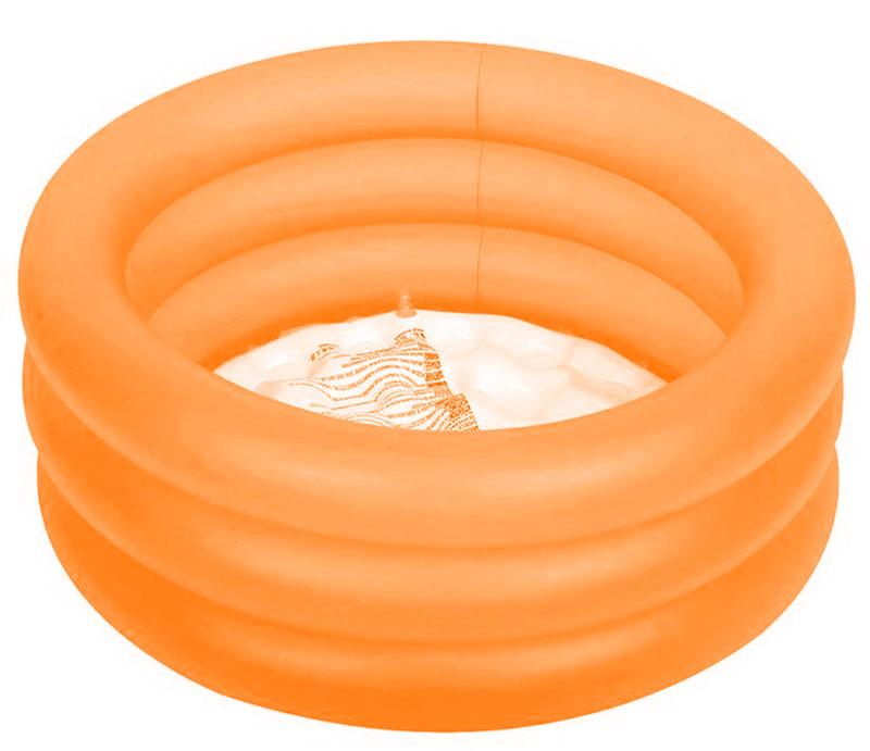 Бассейн надувной Jilong Colorful 3-Ring Pool, цвет: оранжевый, 64 х 22 смJL017220NPF_оранжевыйБассейн надувной Jilong Colorful 3-Ring Pool, цвет: оранжевый, 64 х 22 см