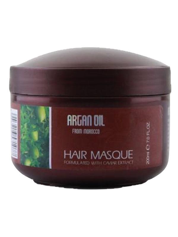 Morocco Argan Oil Питательная увлажняющая маска для волос с маслом арганы и экстрактом икры 200 мл6590122Маска для глубокого питания и увлажнения волос предназначена для профессионального ухода за волосами в домашних условиях. Маска наполняет волосы жизненной силой и энергией, увлажняет волосы, позволяя улучшить их структуру. Такая маска станет отличным подспорьем в уходе за волосами, ведь благодаря ей можно добиться по-настоящему крепких и сильных волос, остановить выпадение, улучшить рост и качество локонов. Ценные ингредиенты в составе маски великолепно усваиваются самыми глубокими структурами волоса и восстанавливают его по всей длине.