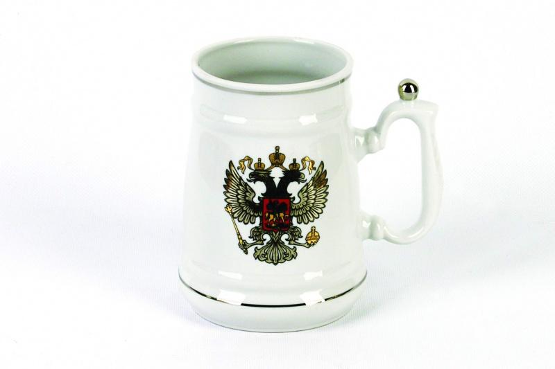 Кружка Фарфор Вербилок Герб платиновый. 2654000026540000Красивая фарфоровая кружка способна скрасить любое чаепитие. Посуда из такого материала позволяет сохранить истинный вкус напитка, а также помогает ему дольше оставаться теплым.