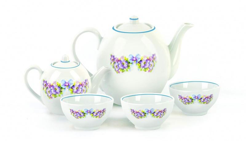 Набор чайный Фарфор Вербилок Собрание. Фиалка. 47802104780210Предметы выполнены так, чтобы Вам было максимально удобно держать их в руках во время чаепития.