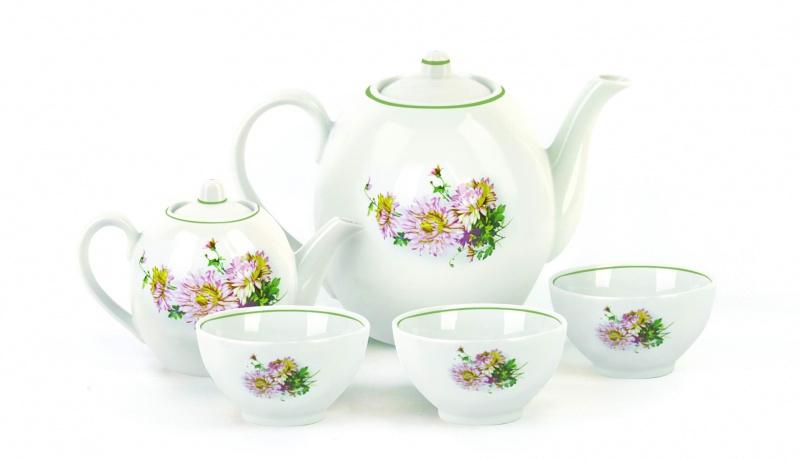 Набор чайный Фарфор Вербилок Собрание. Хризантема. 47804204780420Предметы выполнены так, чтобы Вам было максимально удобно держать их в руках во время чаепития.