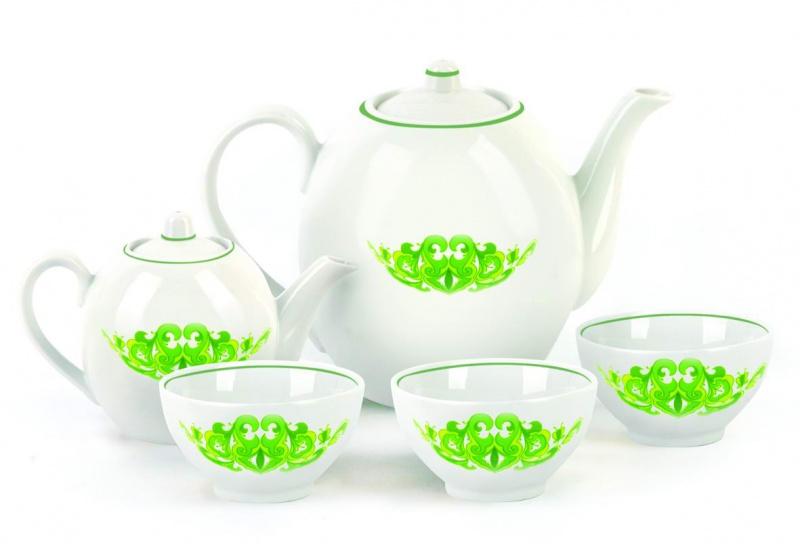Набор чайный Фарфор Вербилок Собрание. Казань, цвет: зеленый. 4780770147807701Предметы выполнены так, чтобы Вам было максимально удобно держать их в руках во время чаепития.