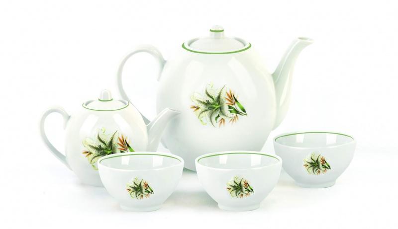 Набор чайный Фарфор Вербилок Собрание. Белая лилия. 47819804781980Предметы выполнены так, чтобы Вам было максимально удобно держать их в руках во время чаепития.