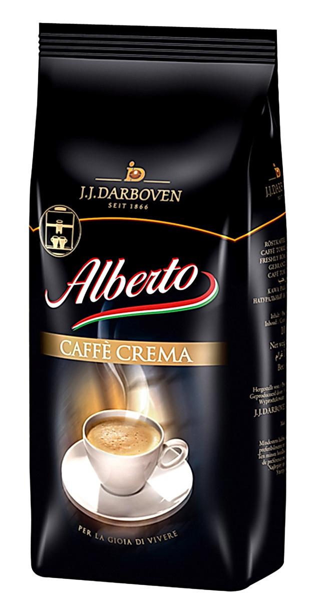 J.J. Darboven Alberto Crema кофе в зернах, 1 кг4006581016825Кофе в зернах J.J. Darboven Alberto Crema - ароматный пряный кофе с бархатистой тонкой пенкой. Специальная смесь жареного кофе обеспечивает чувственное наслаждение. Взбодритесь ранним утром, освежитесь во время кофе-брейка, позвольте себе расслабиться в вечерние часы - этот кофе идеально подходит для любого времени суток. Подходит для всех видов кофеварок. Сорт высший.