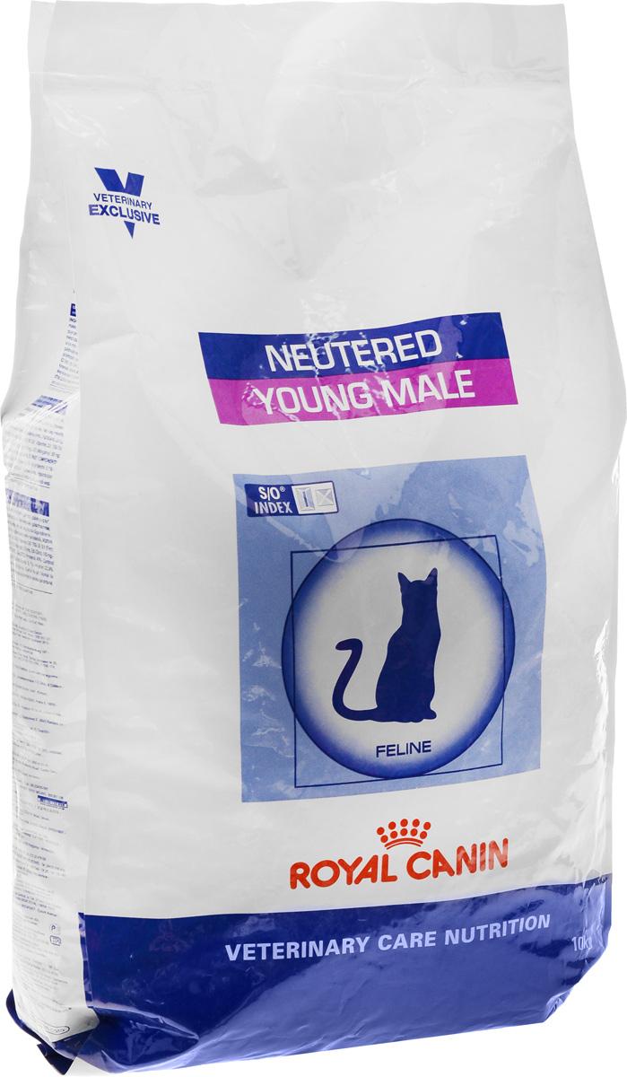 Корм сухой Royal Canin Yong Male, для кастрированных котов до 7 лет, 10 кг28552Корм для кастрированных котов Показания: Для кастрированных котов с момента операции до 7 лет. Оптимальный вес: Обогащенная белками формула способствует лучшему поддержанию мышечного тонуса по сравнению с обычным режимом питания, повышению вкусовых качеств корма. При одном и том же уровне метаболизма белки дают на 30% меньше чистой энергии, чем углеводы. L-карнитин улучшает транспорт жирных кислот в митохондрии. Умеренное содержание крахмала: Умеренно пониженный уровень крахмала и, соответственно, энергии позволяет не набирать лишний вес и уменьшает риск развития диабета. S/O Index: Знак S/O Index на упаковке означает, что диета предназначена для создания в мочевыделительной системе среды, неблагоприятной для образования струвитных кристаллов и кристаллов оксалата кальция. Полезная информация: Количество потребляемого корма у котов и кошек начинает расти уже в первые 48 часов после кастрации, что в дальнейшем может привести к ожирению.
