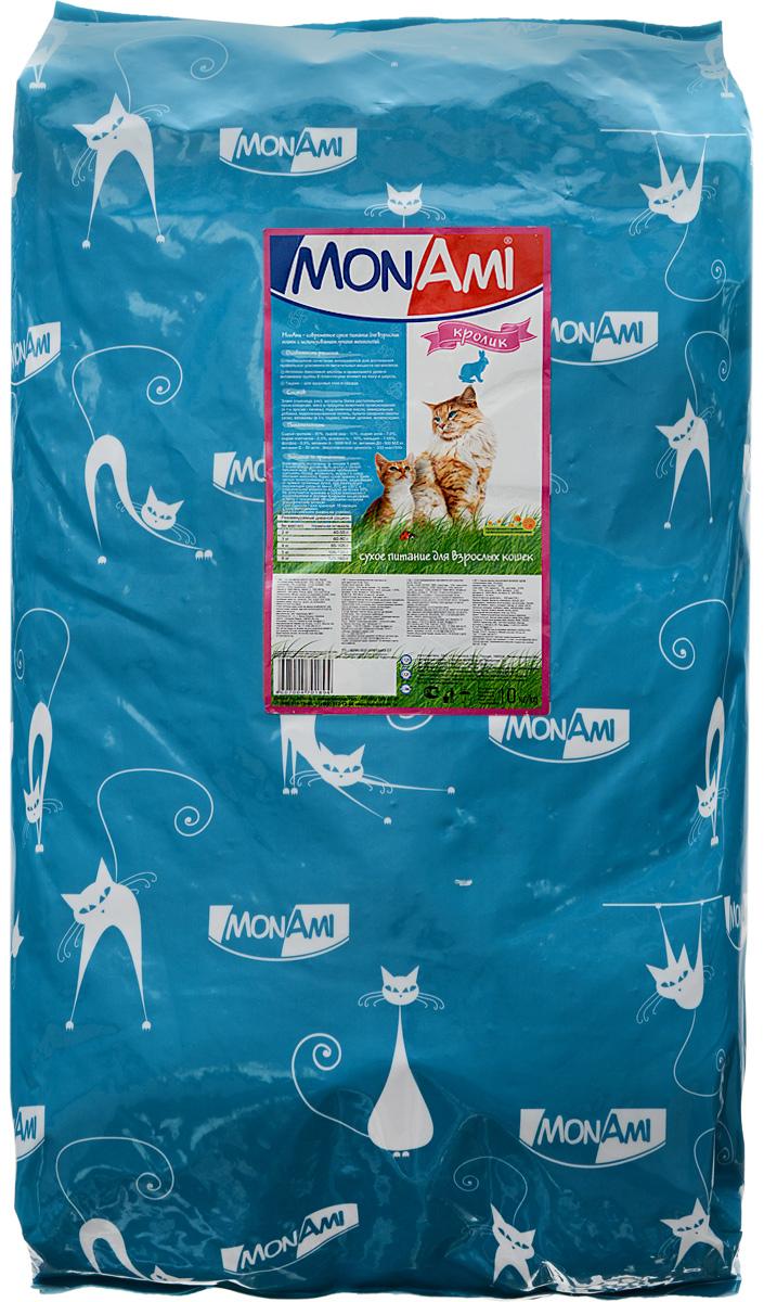 Корм сухой Mon Ami, для взрослых кошек, с кроликом, 10 кг14197Вкусный и полезный сухой корм Mon Ami - это то, что нужно вашей кошке, чтобы быть здоровой и счастливой. Особенности рациона: - Необходимое сочетание ингредиентов для достижения правильной усвояемости питательных веществ организмом. -Источник линолевой кислоты кислоты и правильного уровня витаминов группы В благотворно влияют на кожу и шерсть. Таурин - для здоровья глаз и сердца. Необыкновенный вкус понравится даже самым взыскательным питомцам, а полезность этого аппетитного обеда порадует хозяев. Товар сертифицирован.