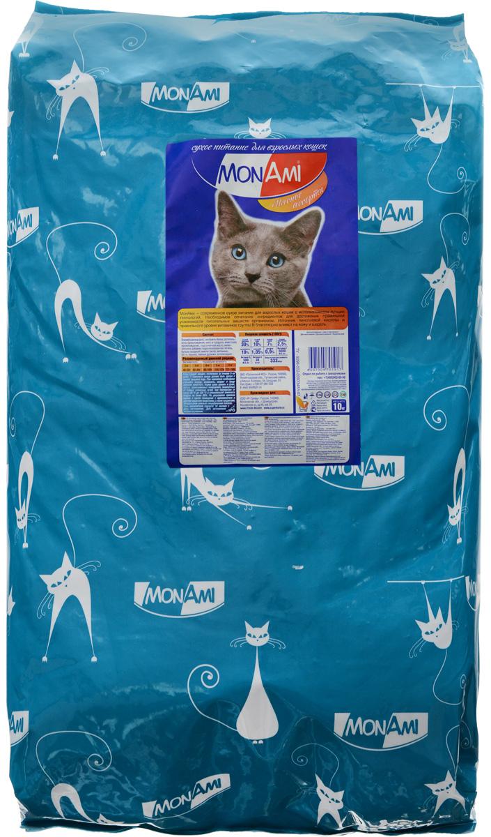 """MonAmi Корм сухой """"Mon Ami"""", для взрослых кошек, мясное ассорти, 10 кг 14193"""