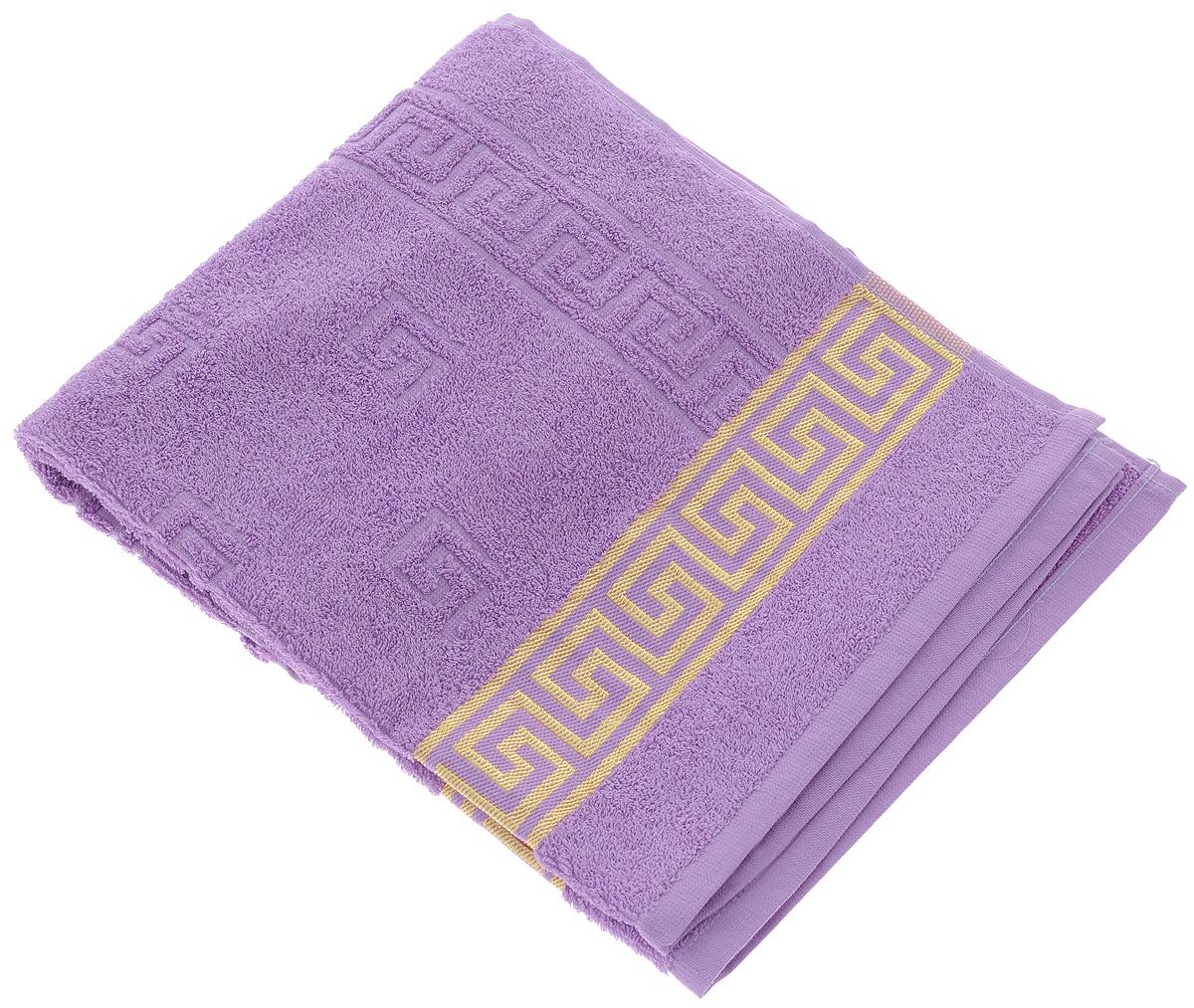 Полотенце Вышневолоцкий текстиль, цвет: сиреневый, золотистый, 90 х 50 см13752Махровое полотенце Вышневолоцкий текстиль выполнено из 100% хлопка. Изделие отлично впитывает влагу, быстро сохнет, сохраняет яркость цвета и не теряет форму даже после многократных стирок. Такое полотенце очень практично и неприхотливо в уходе. Оно украсит интерьер в ванной комнате, а также подарит ощущение заботливой нежности и удивительного комфорта. Рекомендуется стирка при температуре 60°C.