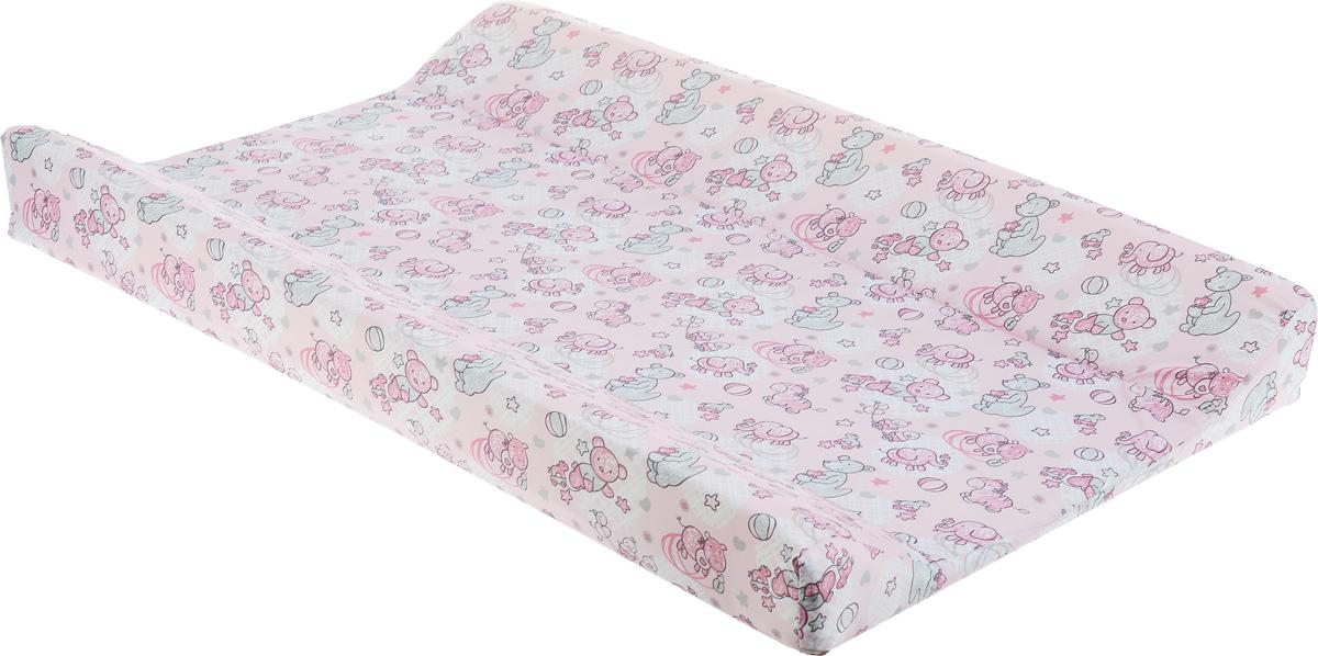 Фея Доска пеленальная Параллель Виниллайт Уточка цвет розовый ( 5440_розовый, слоники, уточки )