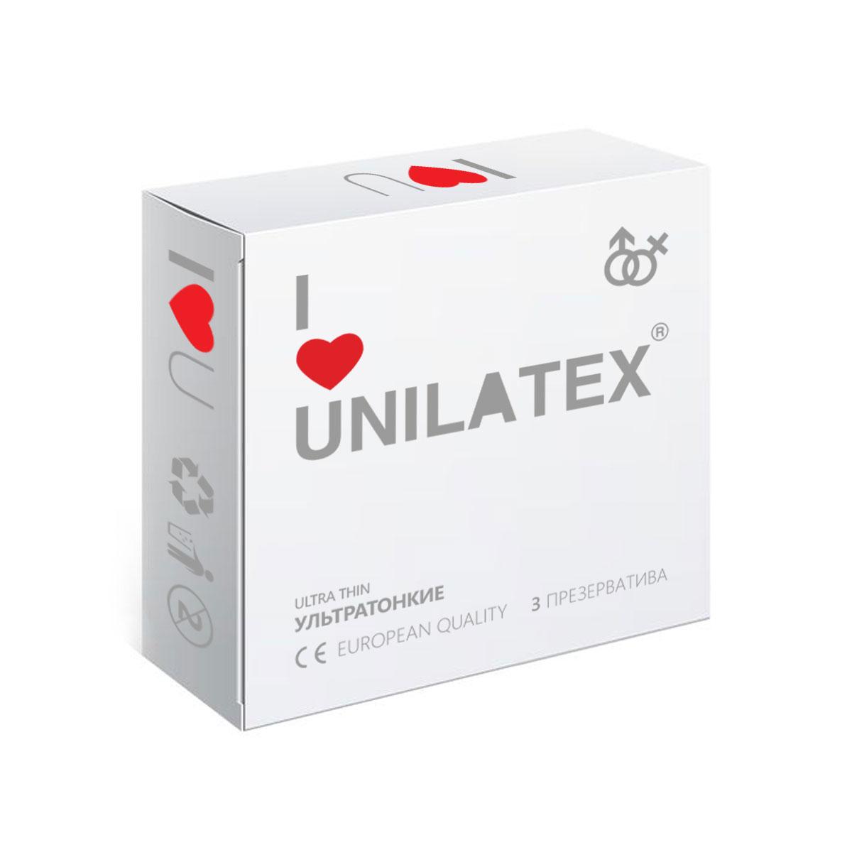 Презервативы Unilatex UltraThin, 3 шт ( Ref. 3012 )