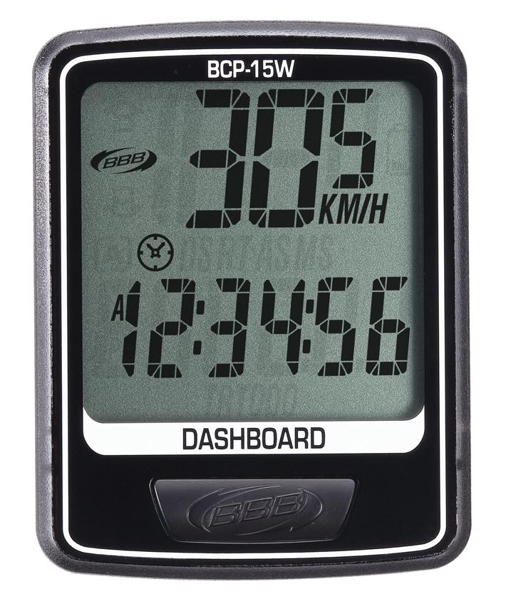 Компьютер BBB DashBoard, 10 функций, цвет: черный. BCP-15WBCP-15WБеспроводной компьютер с 10 функциями: -Текущая скорость -Расстояние -Одометр -Часы -Автоматическое сканирование -Средняя скорость -Максимальная скорость -Автоматический запуск/остановка -Индикатор разрядки батареи Легко читаемый полноразмерный дисплей. Удобное управление с помощью одной кнопки. Компьютер может быть установлен на руле. Водонепроницаемый корпус. Батареи входят в комплект.