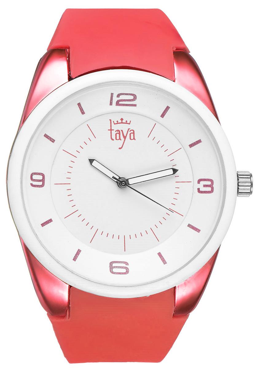 Часы наручные женские Taya, цвет: белый, красный. T-W-0249T-W-0249-WATCH-WH.REDСтильные женские часы Taya выполнены из минерального стекла, силикона и нержавеющей стали. Циферблат часов украшен символикой бренда. Корпус часов оснащен кварцевым механизмом со сменным элементом питания, а также дополнен силиконовым ремешком, который застегивается на пряжку. На стрелки нанесен светящийся состав. Часы поставляются в фирменной упаковке. Часы Taya подчеркнут изящность женской руки и отменное чувство стиля у их обладательницы.