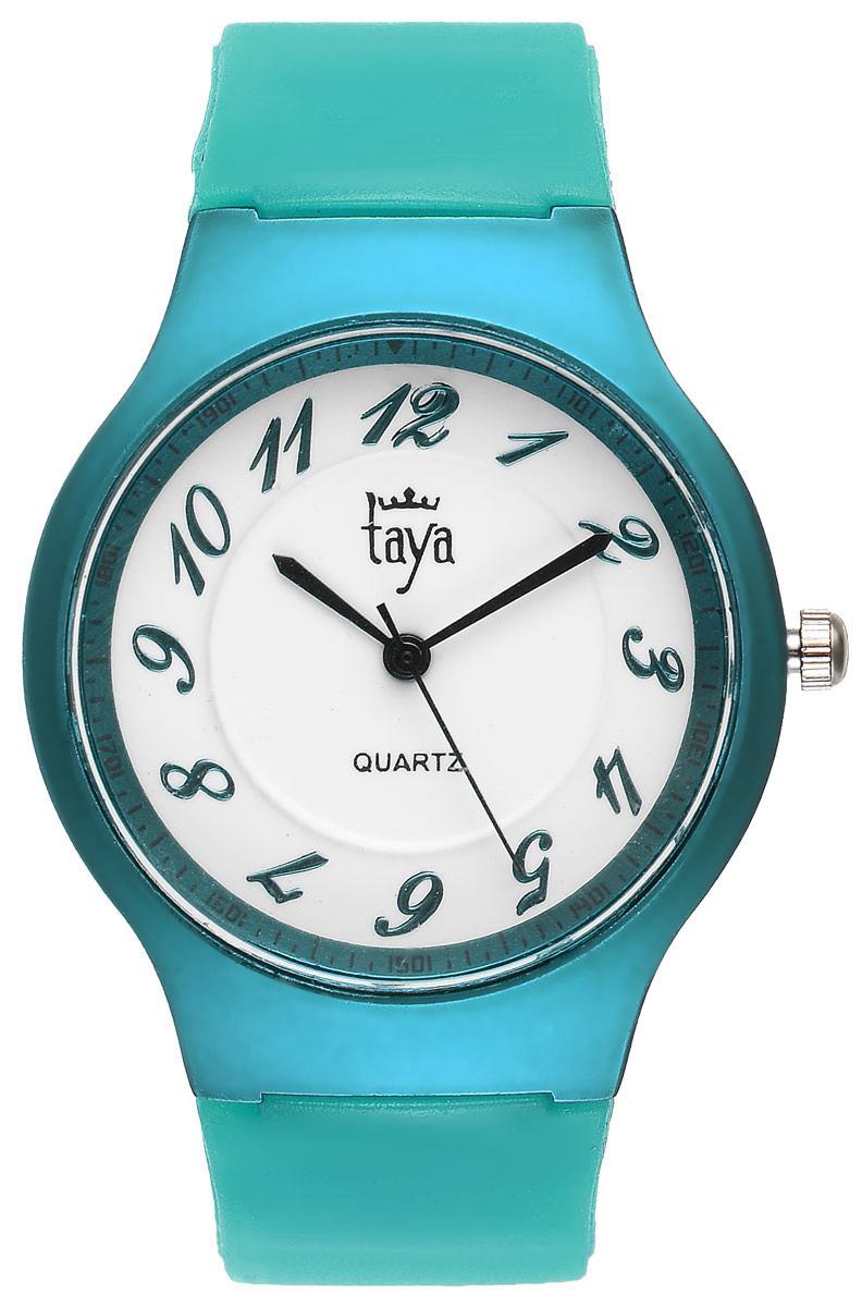 Часы наручные женские Taya, цвет: бирюзовый. T-W-0224T-W-0224-WATCH-GREENСтильные спортивные часы Taya выполнены из минерального стекла, силикона и нержавеющей стали. Циферблат оформлен символикой бренда. Корпус часов оснащен кварцевым механизмом со сменным элементом питания, а также силиконовым ремешком с практичной пряжкой. Часы поставляются в фирменной упаковке. Часы Taya подчеркнут изящность женской руки и отменное чувство стиля у их обладательницы.