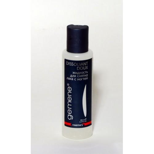 Gemene Жидкость для снятия лака б/ац. ,розмарин, 100мл4751006751729Мягкая жидкость, оставляющая после снятия лака, легкий, приятный и ненавязчивый запах. Пластиковый флакон, 100 мл.