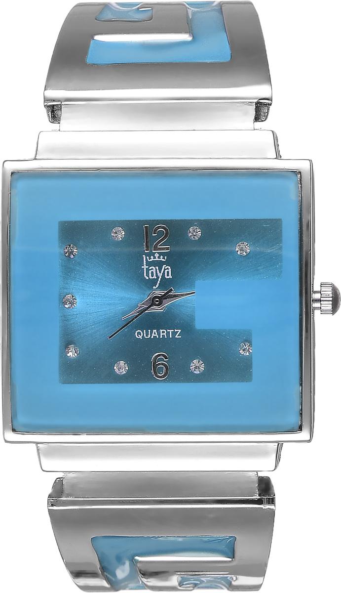 Часы наручные женские Taya, цвет: серебристый, голубой. T-W-0400T-W-0400-WATCH-SL.BLUEСтильные женские часы Taya выполнены из минерального стекла и нержавеющей стали. Циферблат часов инкрустирован стразами и украшен символикой бренда. Корпус часов оснащен кварцевым механизмом со сменным элементом питания, а также дополнен раздвижным браслетом с пружинным механизмом, который позволяет надеть часы на любую руку. Браслет оформлен цветной эмалью. Часы поставляются в фирменной упаковке. Часы Taya подчеркнут изящность женской руки и отменное чувство стиля у их обладательницы.