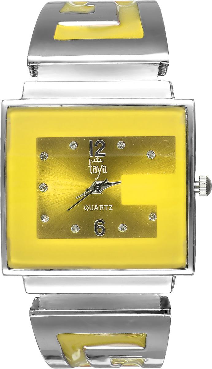 Часы наручные женские Taya, цвет: серебристый, желтый. T-W-0404T-W-0404-WATCH-SL.YELLOWСтильные женские часы Taya выполнены из минерального стекла и нержавеющей стали. Циферблат часов инкрустирован стразами и украшен символикой бренда. Корпус часов оснащен кварцевым механизмом со сменным элементом питания, а также дополнен раздвижным браслетом с пружинным механизмом, который позволяет надеть часы на любую руку. Браслет оформлен цветной эмалью. Часы поставляются в фирменной упаковке. Часы Taya подчеркнут изящность женской руки и отменное чувство стиля у их обладательницы.
