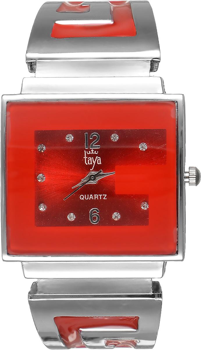 Часы наручные женские Taya, цвет: серебристый, красный. T-W-0405T-W-0405-WATCH-SL.REDСтильные женские часы Taya выполнены из минерального стекла и нержавеющей стали. Циферблат часов инкрустирован стразами и украшен символикой бренда. Корпус часов оснащен кварцевым механизмом со сменным элементом питания, а также дополнен раздвижным браслетом с пружинным механизмом, который позволяет надеть часы на любую руку. Браслет оформлен цветной эмалью. Часы поставляются в фирменной упаковке. Часы Taya подчеркнут изящность женской руки и отменное чувство стиля у их обладательницы.